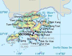 Cartina Hong Kong.China Hong Kong