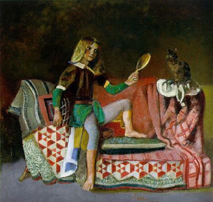 Forum gatti nell 39 arte bozzetti disegni e quadri tutti for Balthus alice dans le miroir