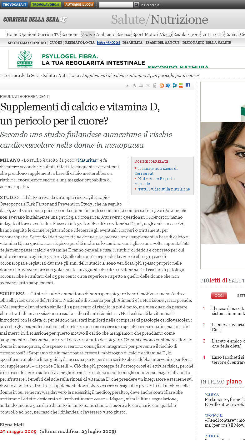 Il paratormone, la vitamina D ed il CALCIO