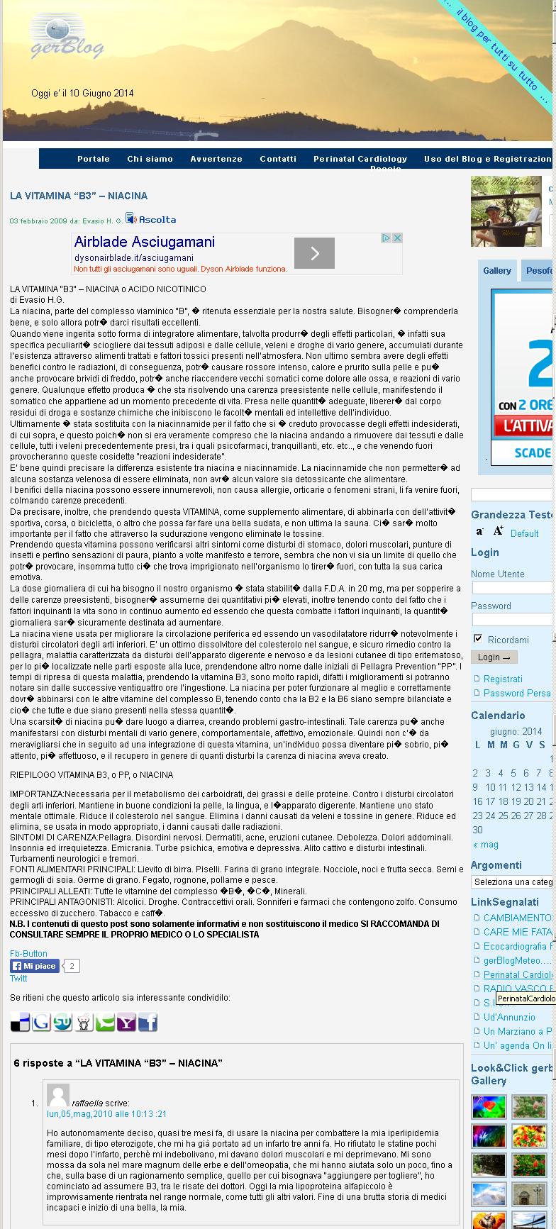 "LA VITAMINA ""B3″ – NIACINA"