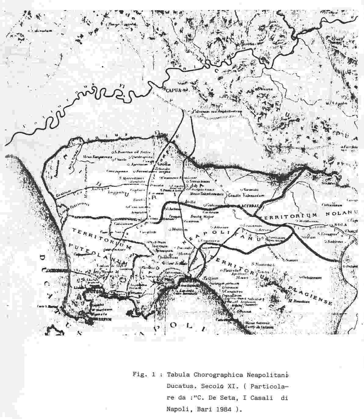"""... Neapolitano Ducatus""""  essa è stata redatta da Bartolomeo Capasso oltre  il mezzo secolo fa.La carta rappresenta il territorio di Napoli nell XI  secolo 18841e4a6d23"""