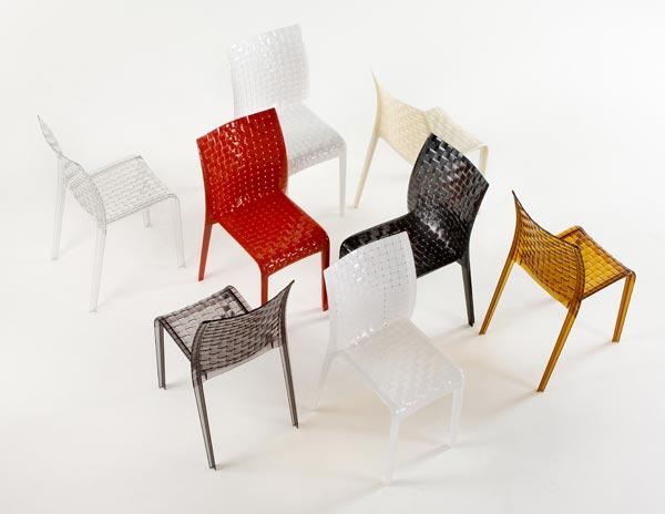 Kartell 4 sedie ami ami tokujin yoshioka chairs chaises ebay for Sedie plastica design kartell