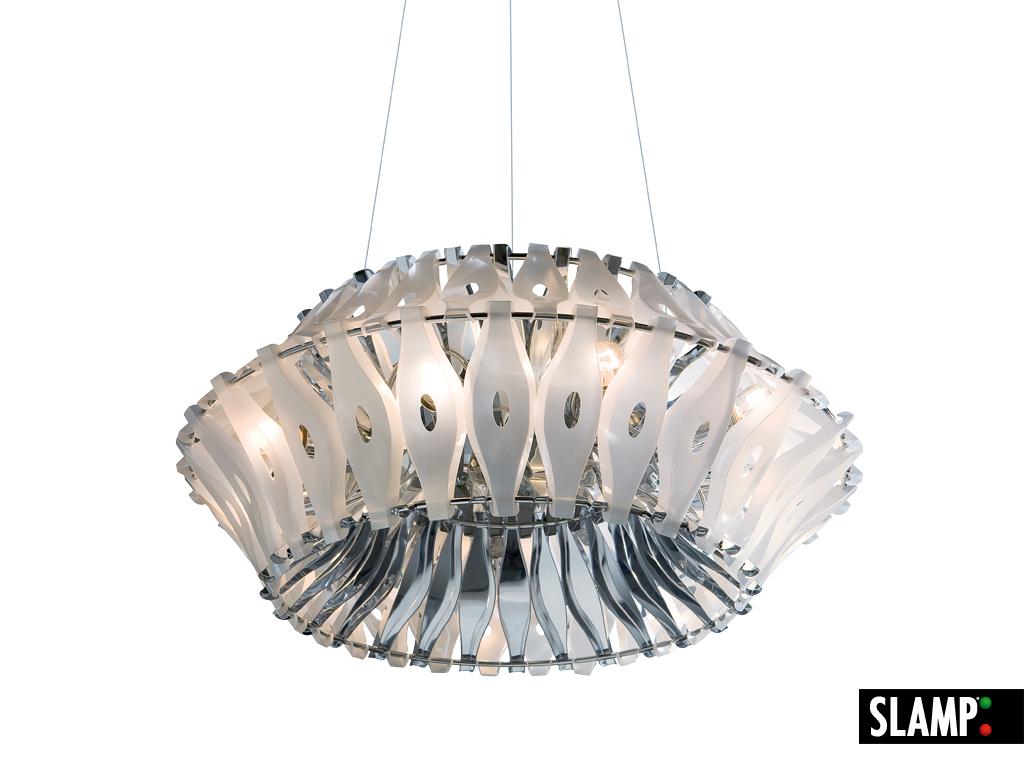 lampadario salotto : Pin Slamp Corona White Lampadario Soggiorno Salotto Cucina Ebay on ...