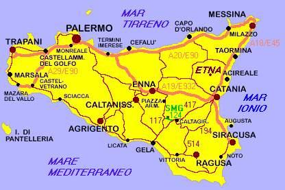 Cartina Geografica Della Sicilia.Le Carte