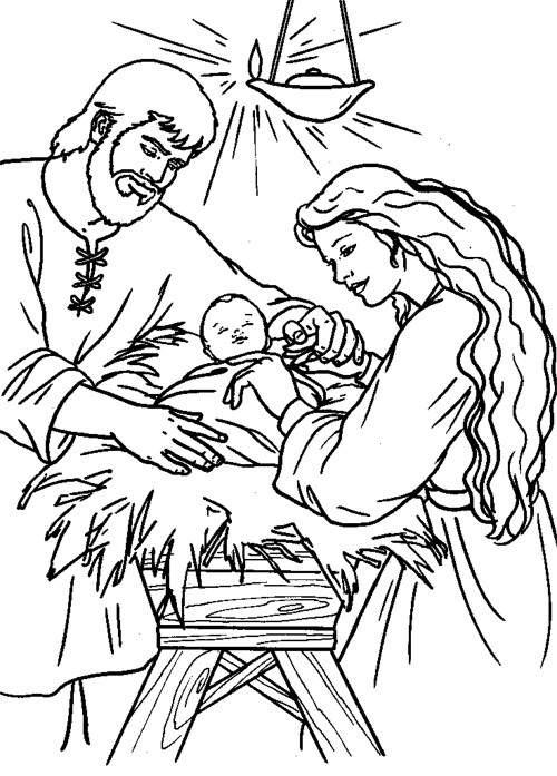 Immagini Nascita Di Gesù Da Colorare