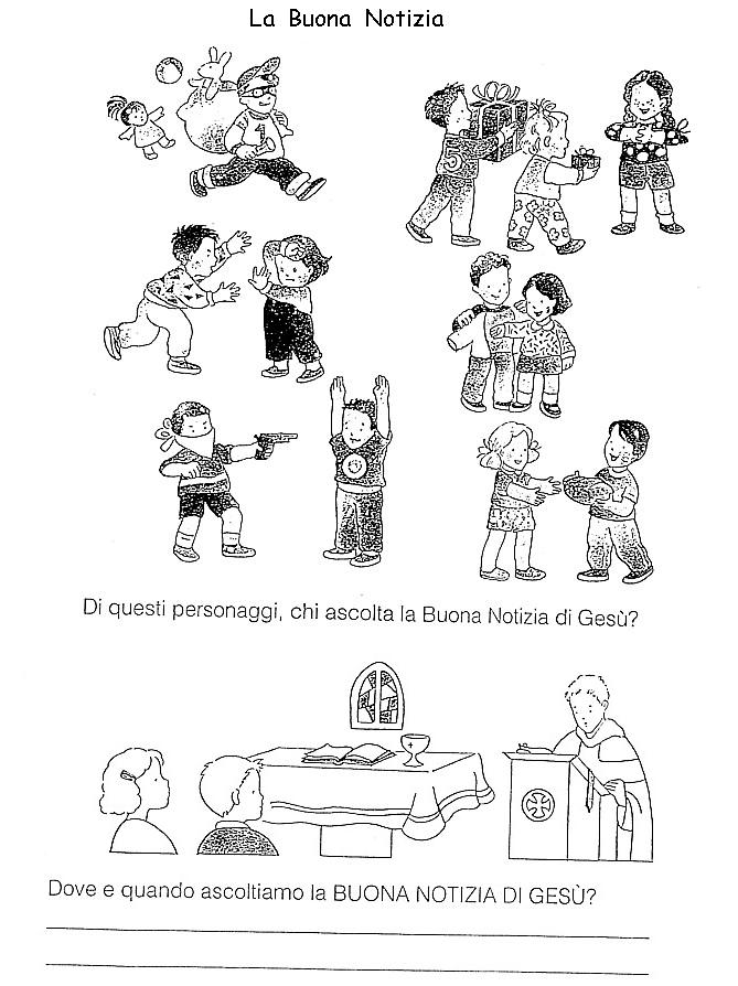 Nel giardino degli angeli catechismo schede pagina 1 for Angeli da stampare e colorare