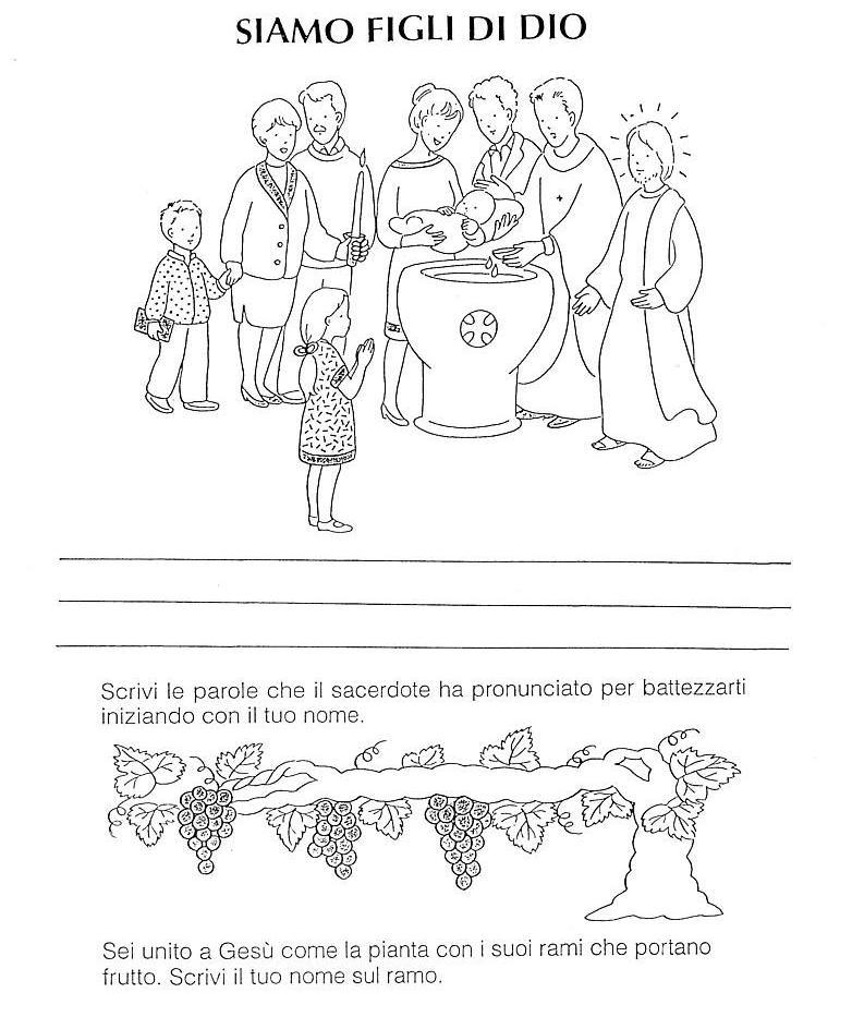 spesso Nel Giardino degli Angeli - Catechismo - Schede pagina 1 FH17