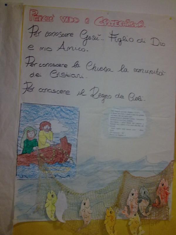 Nel giardino degli angeli catechismo cartelloni for Pesciolini da colorare per bambini