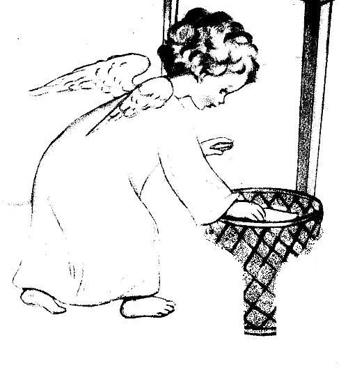 Nel giardino degli angeli catechismo cartelloni for Angeli da stampare e colorare