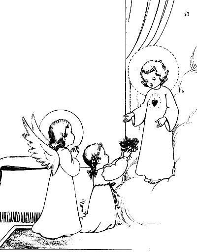 Nel giardino degli angeli catechismo cartelloni for Immagini angeli da colorare