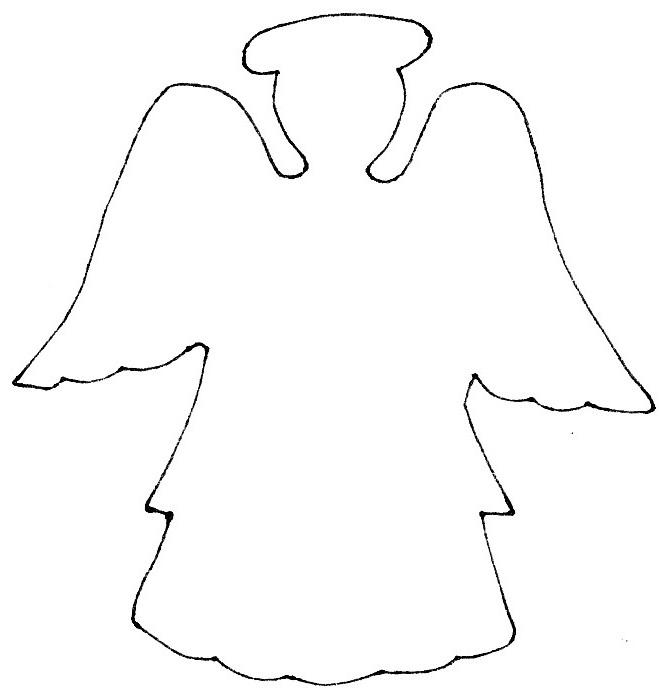 Disegno angelo presepe