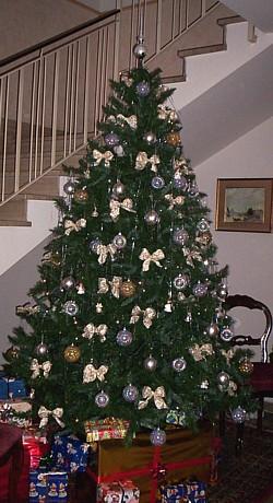 Fiocchi per albero di natale bianchi