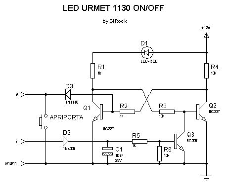 Led su urmet 1130 elettronica generica plc forum for Citofono urmet 1130 schema