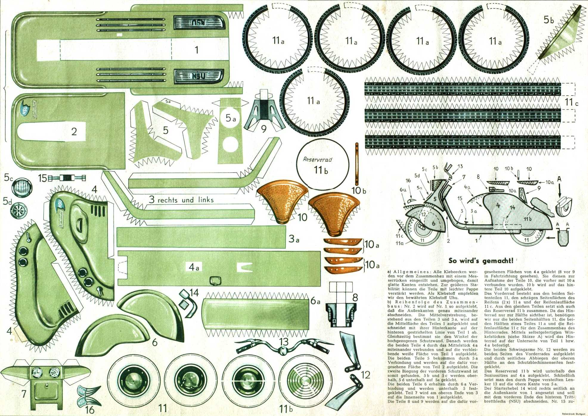 """Subject: """"Bored? Here is a paper cut out scooter model kit"""" Archived ..."""