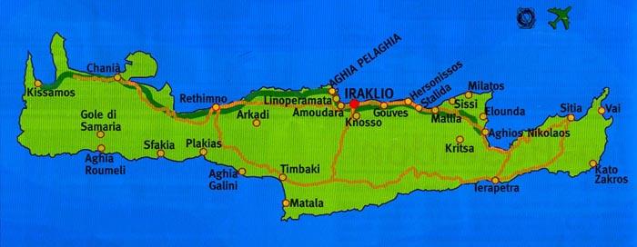 Cartina Creta.Cartina Di Creta E Della Grecia