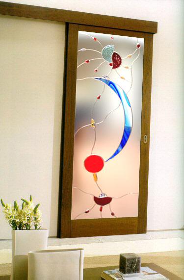 Serglas vetrate e porte in cristallo vetro satinate sabbiate for Porte d arredo in vetro
