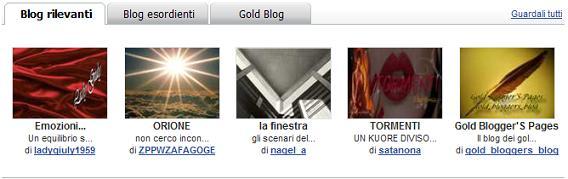 gold_bloggers_blog tra i rilevanti.