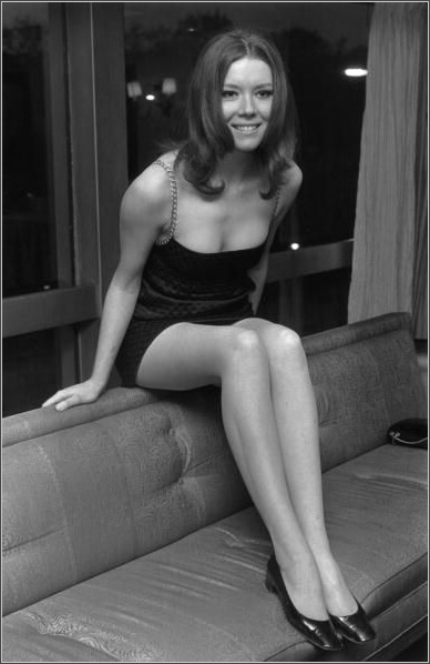 Diana Rigg Black And White Photo