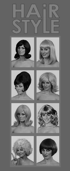 Hairstyle Years 60s 70s Girls Women Vintage Fashion 1960s 1970s