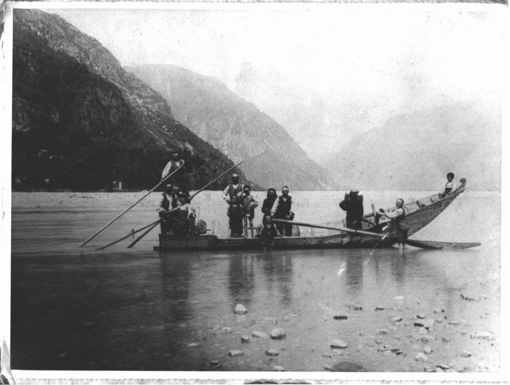 Trasporti sul fiume tagliamento a braulins nel 1901