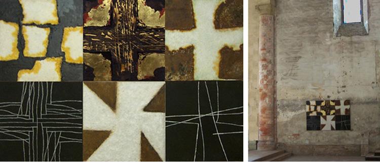 sechs Kreuze von der Ausstellung: Alba, San Domenico
