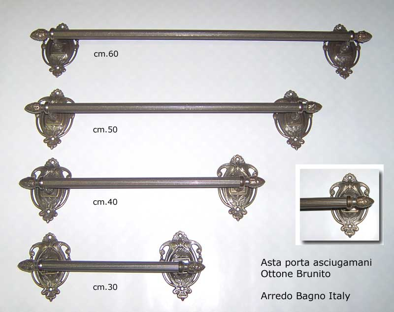 ... Asciugamani Ottone CM 40 Arredo Bagno Bathroom Accessories  eBay