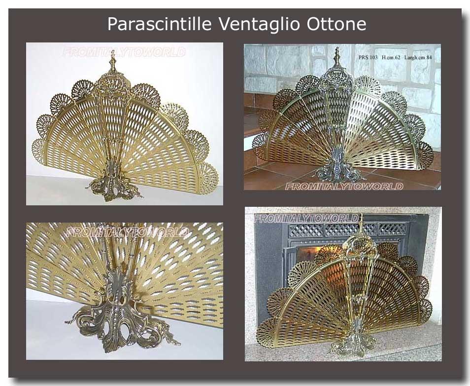 Parascintille Paracamino Ottone Ventaglio coda Pavone per Caminetto  eBay