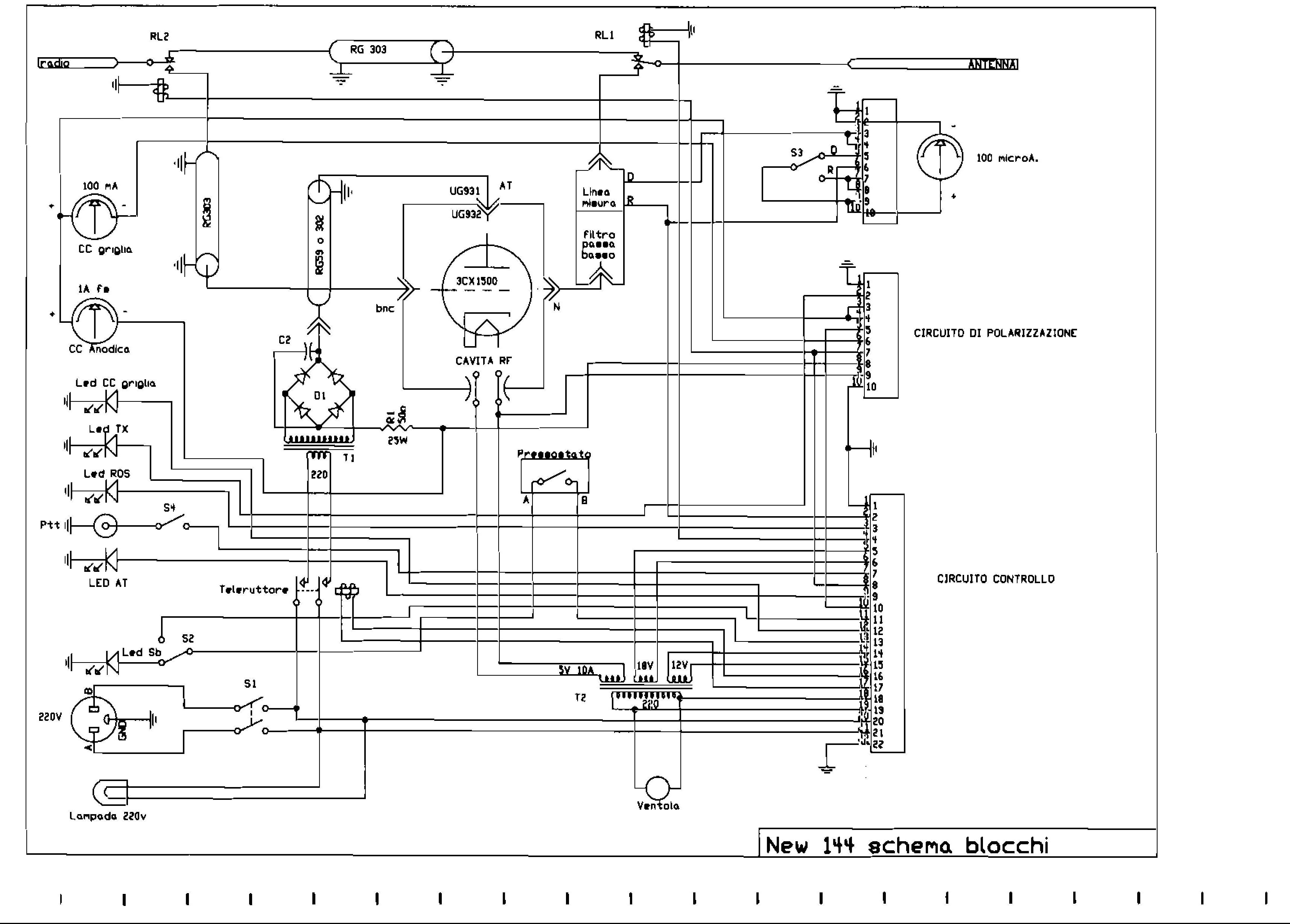 Schema Collegamento Filtro Lte : Nuova realizzazione di amplificatore vhf con valvola