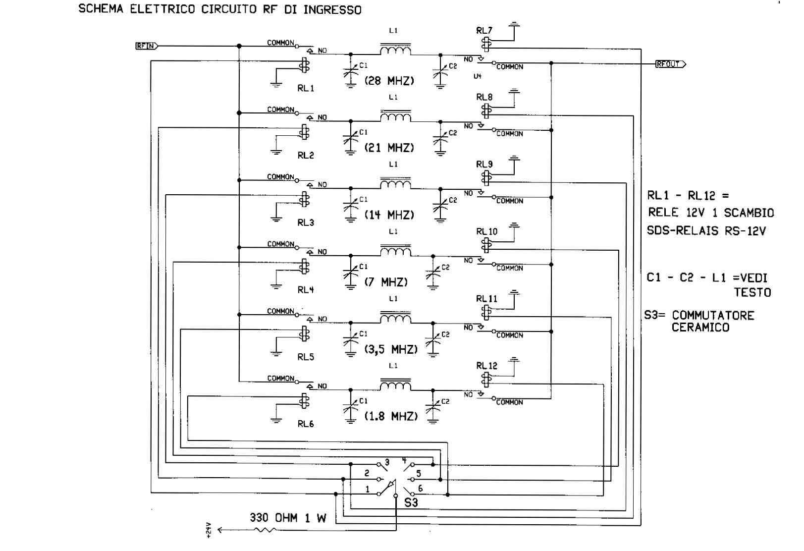 Schema Elettrico Relè Commutatore : Amplificatore