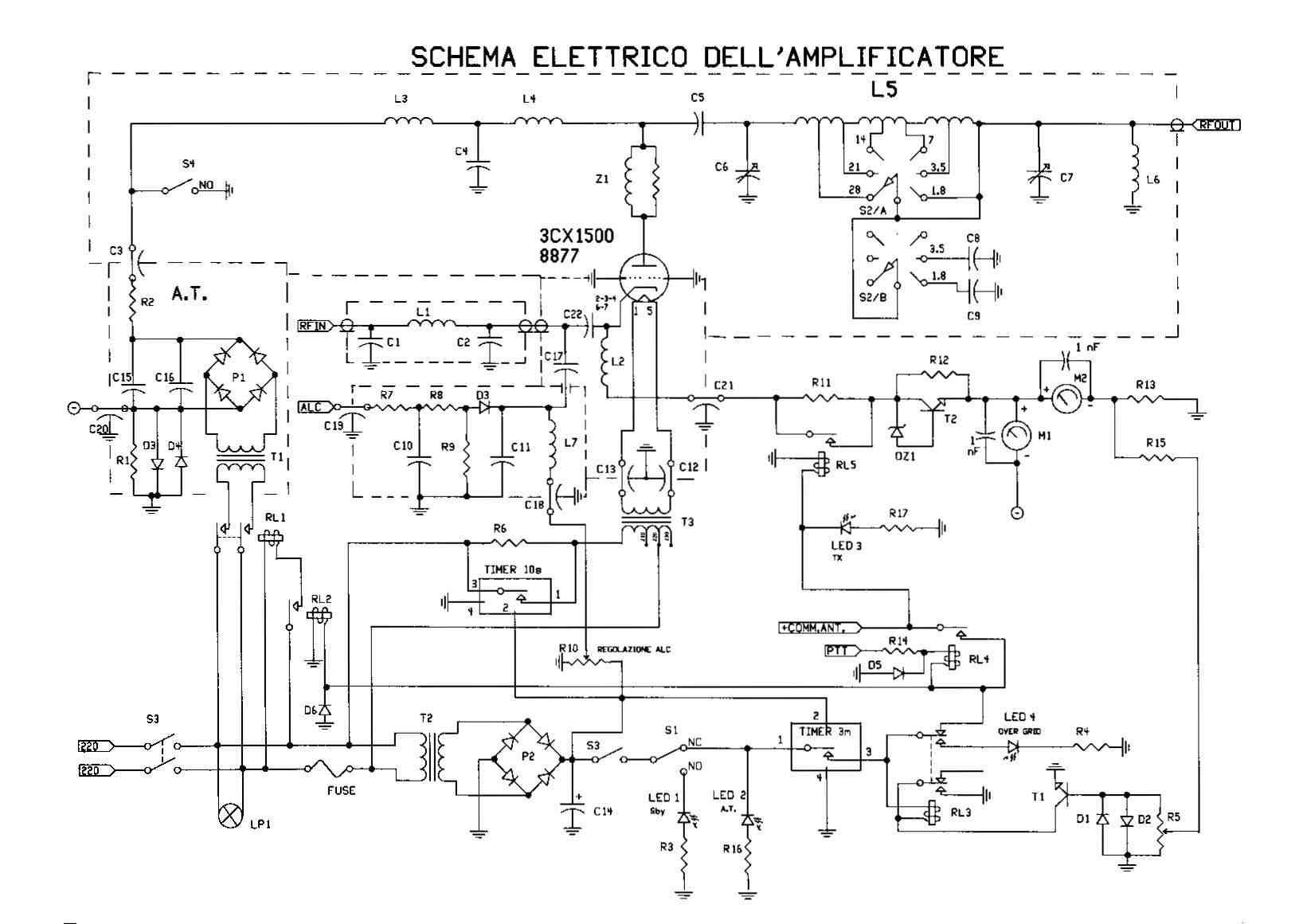 Schema Elettrico Per Fotocellula : Amplificatore