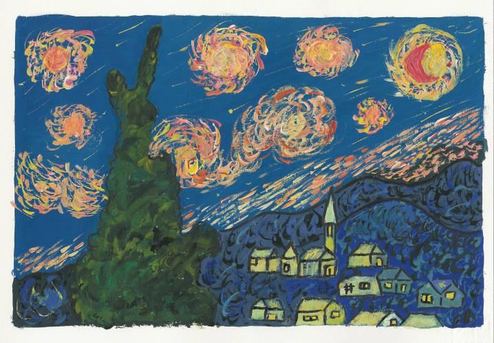 Pin notte stellata van goghjpg do it on pinterest for La notte stellata
