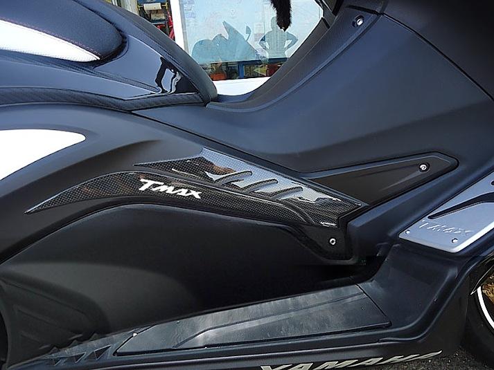 2 Adhesivos de Gel 3D Guardabarros Carene Scooter compatibles Yamaha TMAX 560 Desde 2020 Carbonio Oro