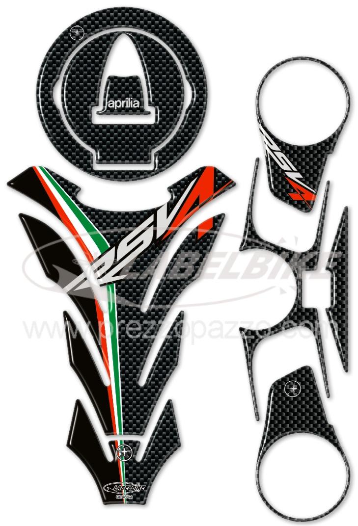 kit adesivi  stickers in resina gel 3d compatibili per moto