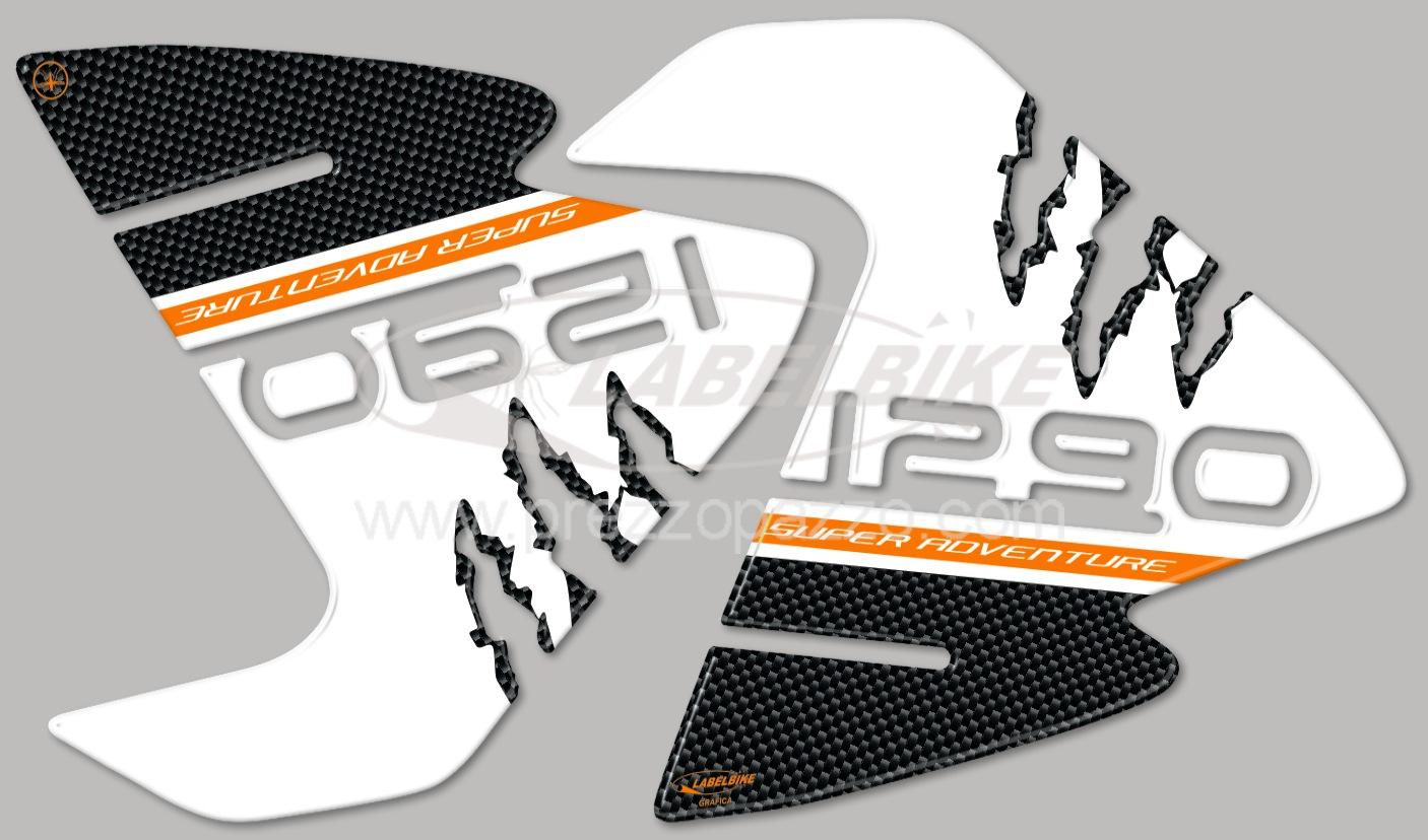 KIT ADESIVI 3D PROTEZIONI SERBATOIO compatibili per KTM 1290 SUPER ADVENTURE
