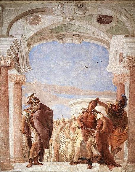 Atena impedisce ad Achille di uccidere Agamennone (Tiepolo)