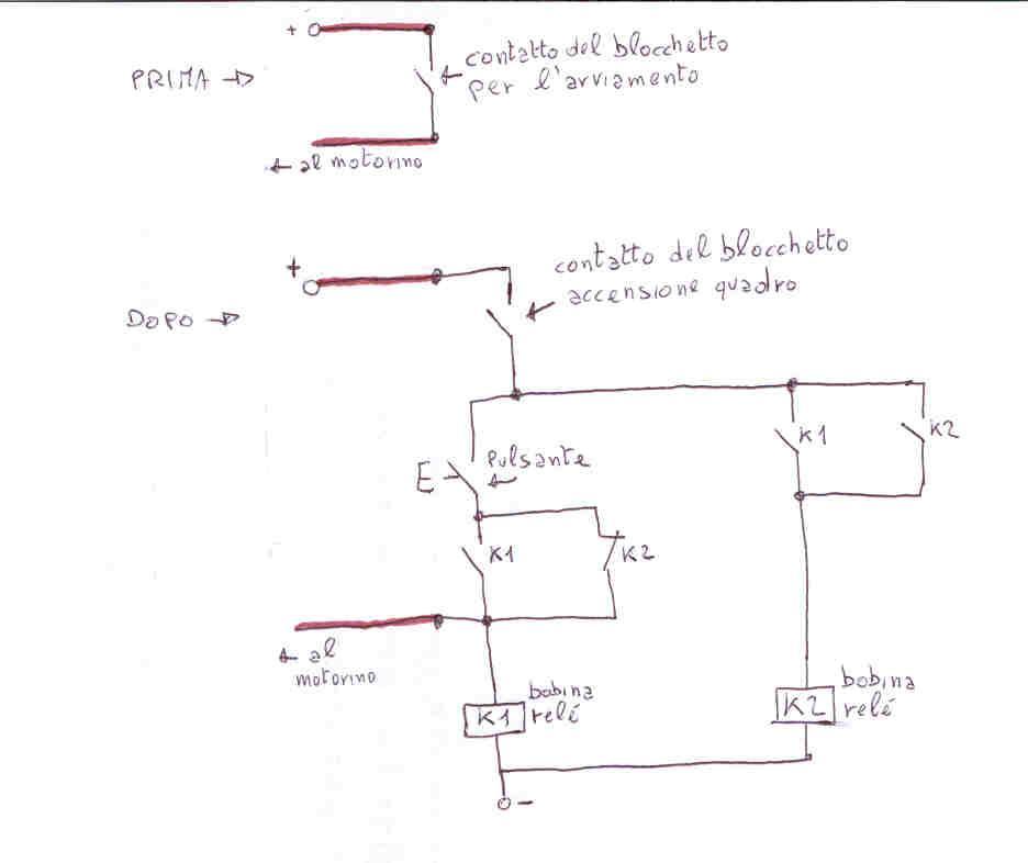 Schema Elettrico Blocchetto Avviamento : Approfondimenti accensione a pulsante