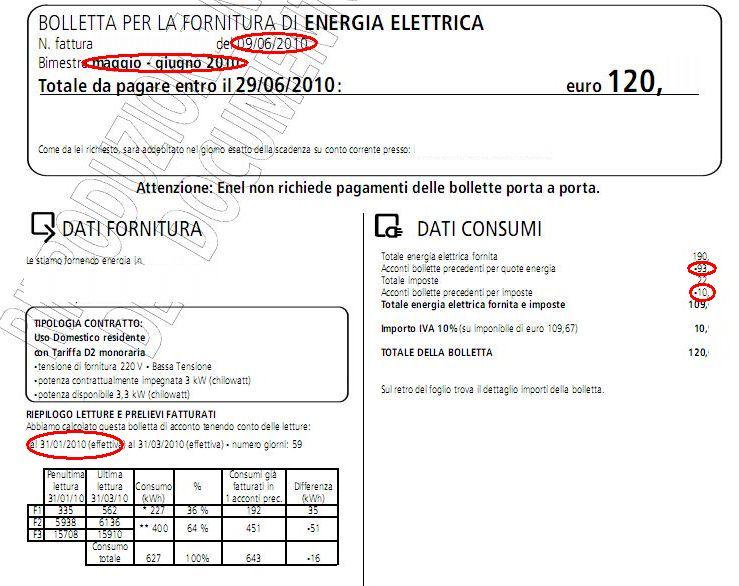 Enel servizio elettrico world cyber for Enel gas bolletta