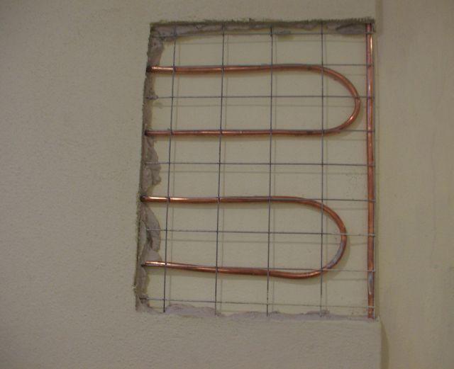 Riscaldamento a parete con tubo in rame - Riscaldamento pannelli radianti a parete ...