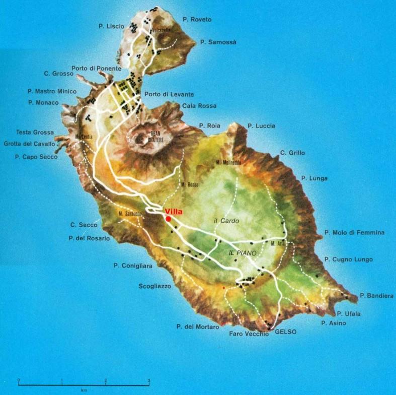 Isola di vulcano the island of vulcano for Design della mappa di casa