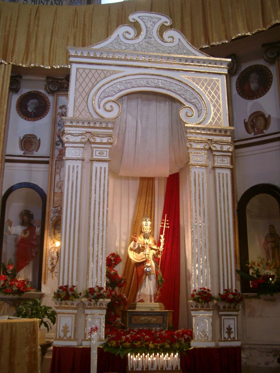 San Silverio nella chiesa di Ponza
