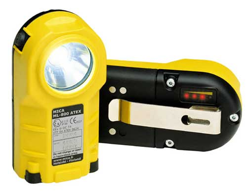 atex : torce lampade illuminatori ml800 - sicurezza intrinseca