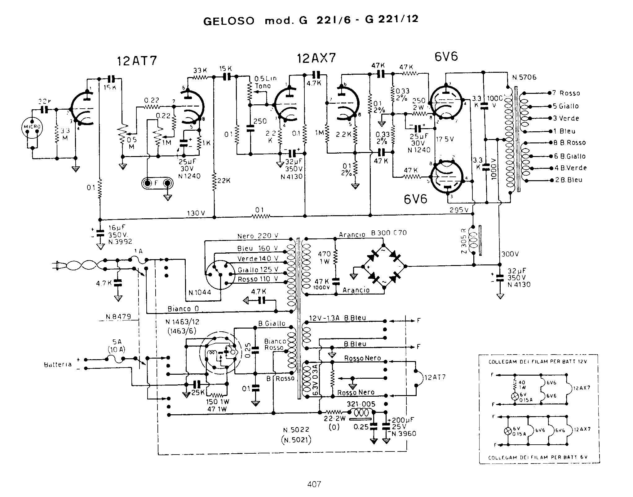 Schema Elettrico Traduzione : Amplificatori