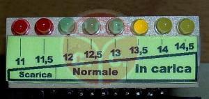Schema Elettrico Voltmetro Per Auto : Monitor batteria voltmetro