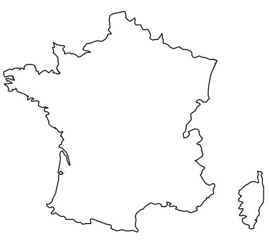 Cartina Muta Della Francia.Cartina Muta