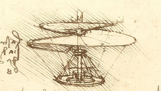 Elicottero Leonardo Da Vinci : Le scoperte coperte l elicottero