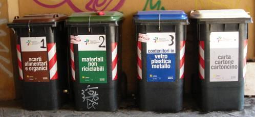 Raccolta domiciliare dei rifiuti a colli aniene roma - Bidoni per differenziata casa ...