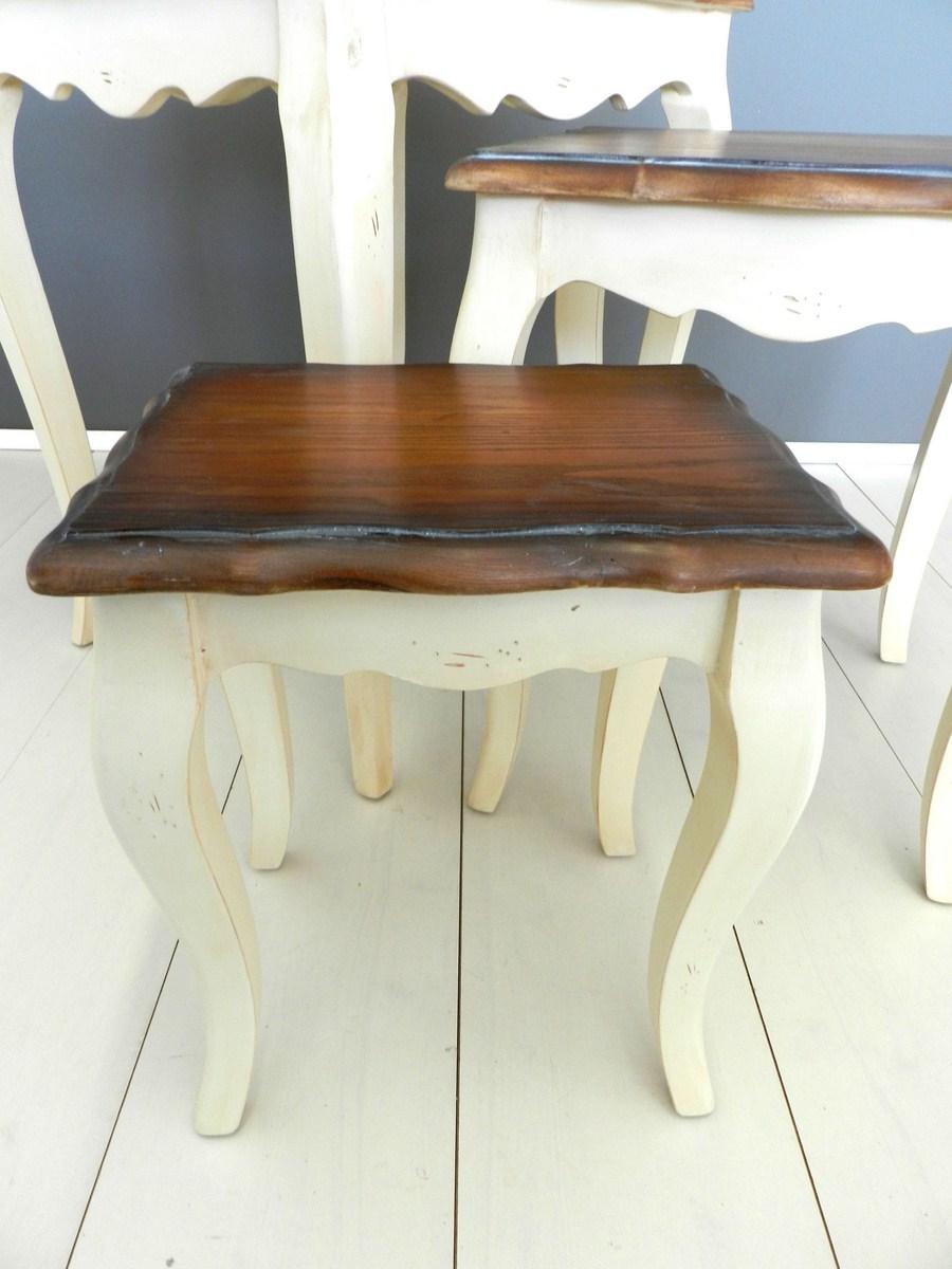 Tris tavolini country provenzale shabby tavolino salotto - Tris di tavolini ...