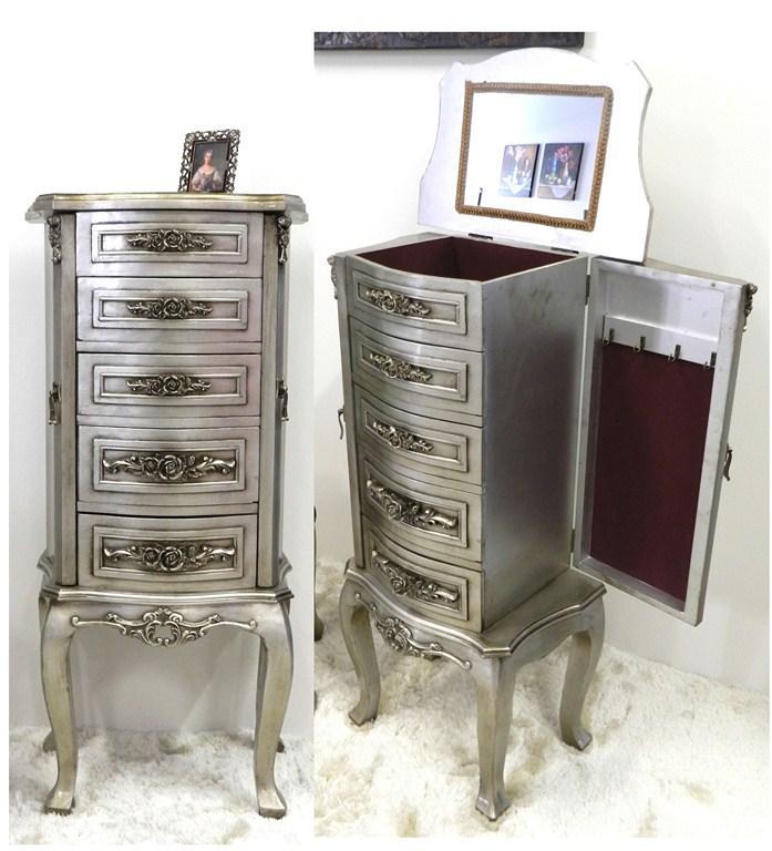 Pettiniera toeletta cassettiera portacollane finitura - Cassettiera con specchio ...