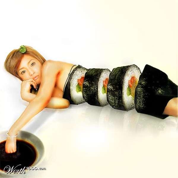 sirena, sushi