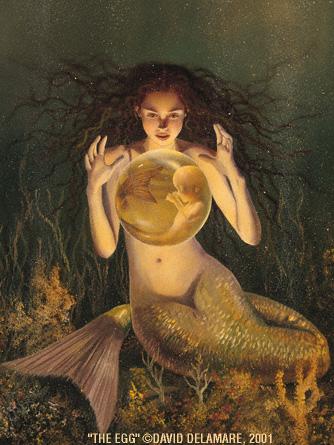 sirena con sfera